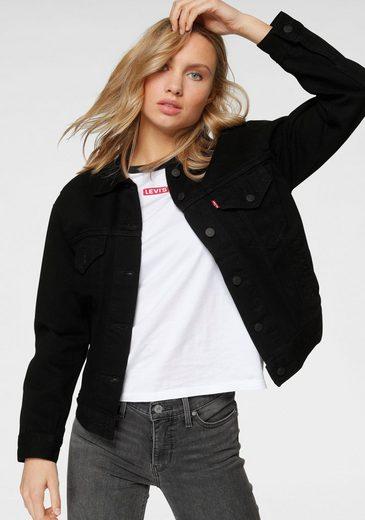 Levi's® Jeansjacke »Ex- Boyfriend Trucker« aus weichem Baumwoll- Material