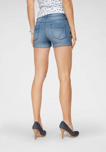 Arizona Jeansshorts »Kontrastnähte« Mid Waist - als Shorts oder Bermuda tragbar