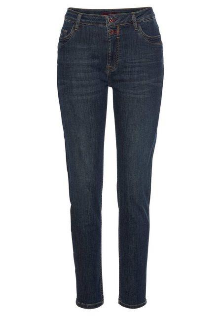 Hosen - BLUE FIRE Stretch Jeans »Lara« im Used Look › blau  - Onlineshop OTTO