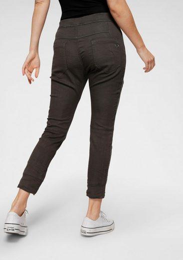 Please Jeans Jogger Pants »P51G« Glamfaktor: Glitzer-Seitenstreifen-Applikation