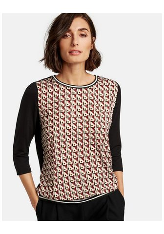 TAIFUN Marškinėliai 3/4 rankovės apvalia iški...