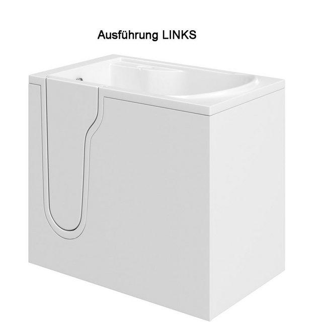 Badewannen und Whirlpools - HAK Badewanne »FREEDOM, Sitzbadewanne mit Tür«, 106x66 cm, links  - Onlineshop OTTO