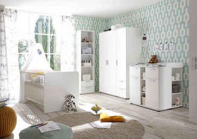 Begabino Babyzimmer-Komplettset »Bibo«, (Set, 3-St), Bett + Wickelkommode + 3-trg. Schrank