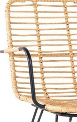 SalesFever Stuhl aus wetterfestem Kunststoffgeflecht in Rattanoptik  im 2er-Set
