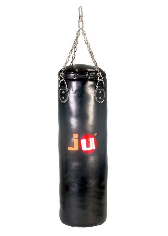Sandsack, Ju-Sports, Kunstleder 90 cm in schwarz