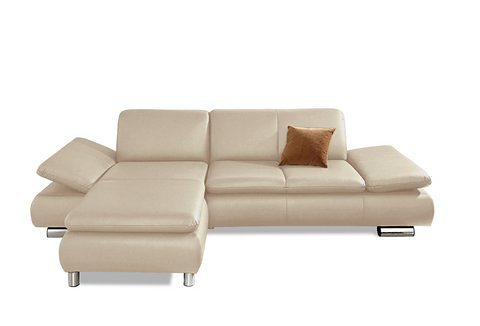 Max Winzer® Polsterecke »Toulouse«, Recamiere wahlweise links oder rechts in beige