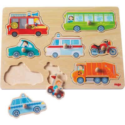 Haba Steckpuzzle »HABA 301940 Greifpuzzle Fahrzeug Welt«, Puzzleteile
