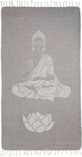 Seahorse Hamamtuch »Buddha« (1-St), mit Wellness Motiven