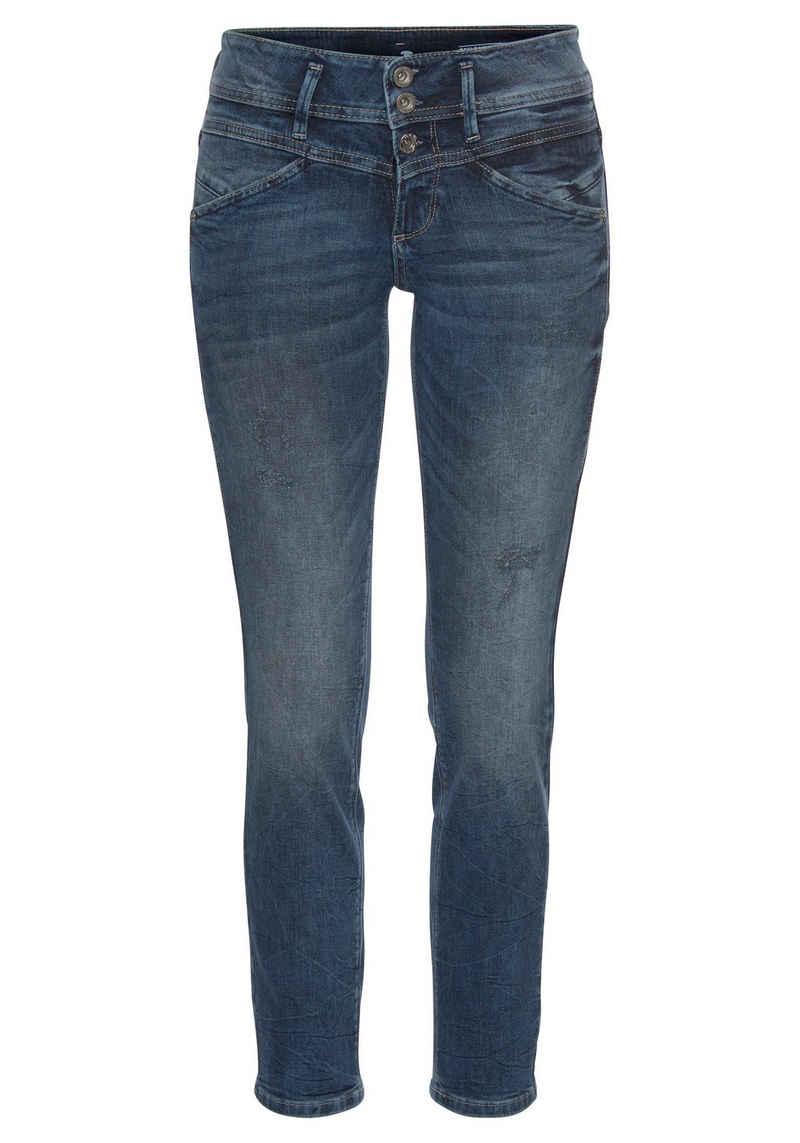 TOM TAILOR Slim-fit-Jeans »Alexa Slim« mit versetzten Nachtdetails