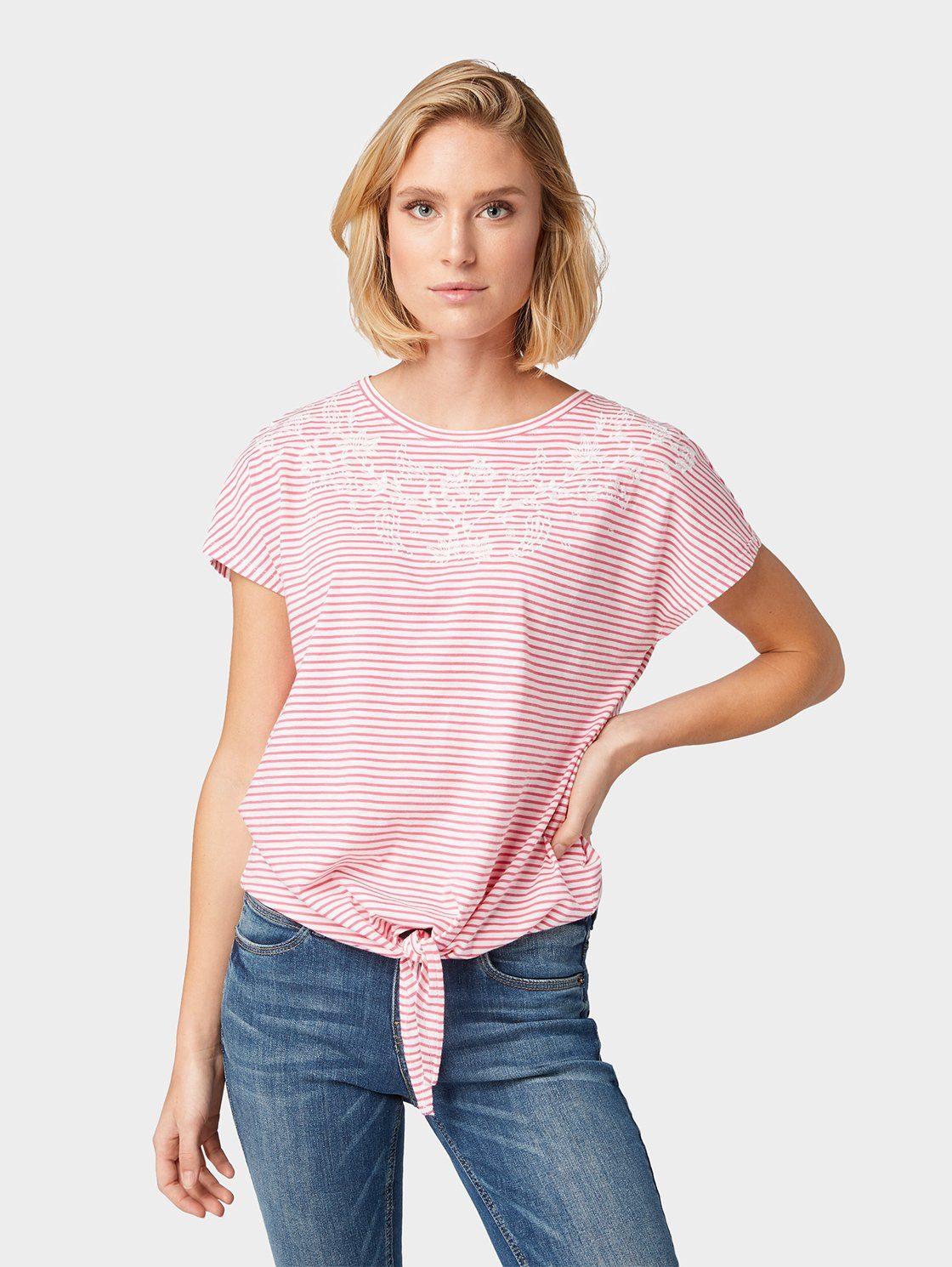 Shirt, mit Knoten Detail