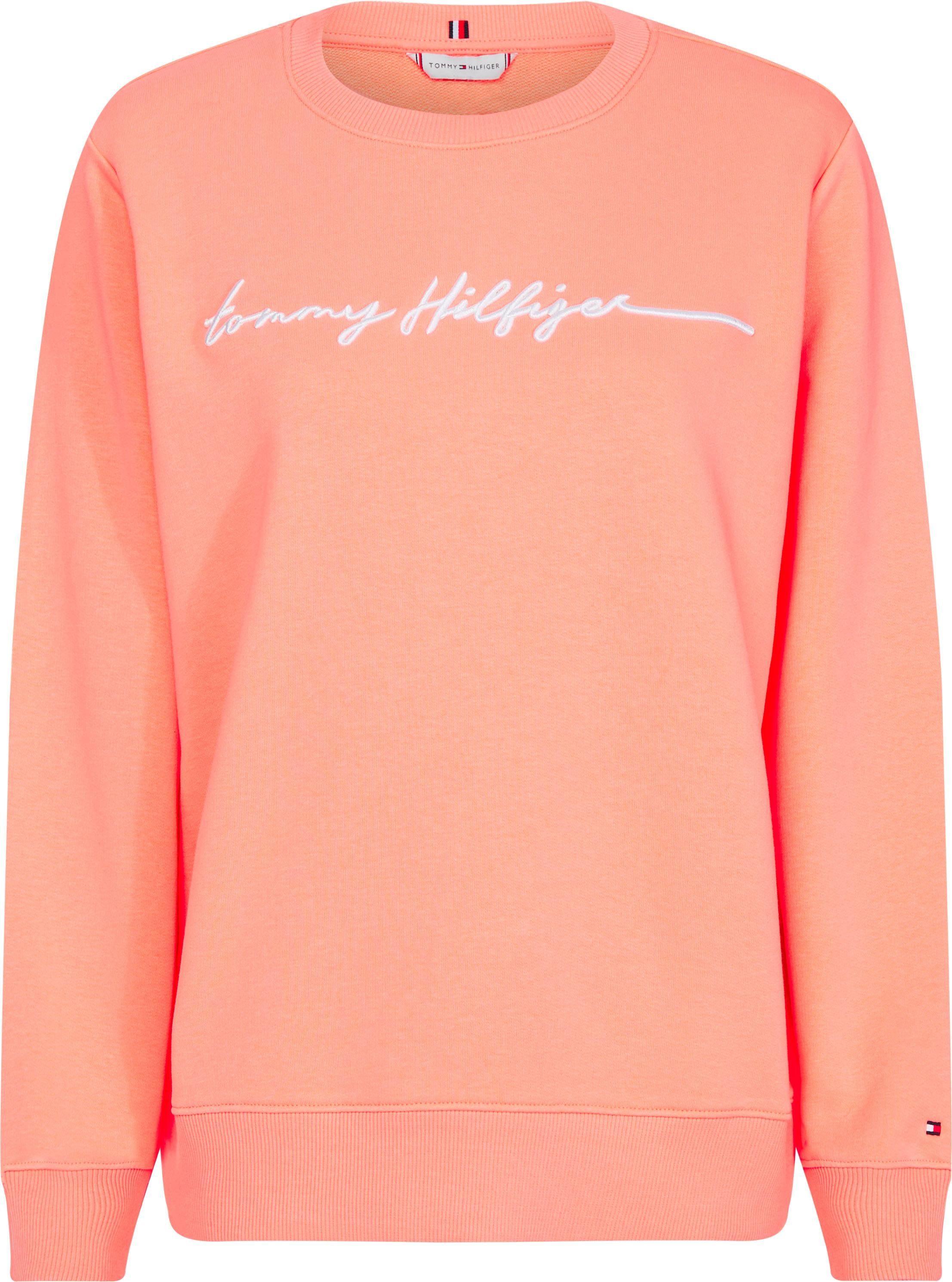 TOMMY HILFIGER Sweatshirt »ANNIE RELAXED C NK SWEATSHIRT LS« Mit Logostickerei online kaufen | OTTO