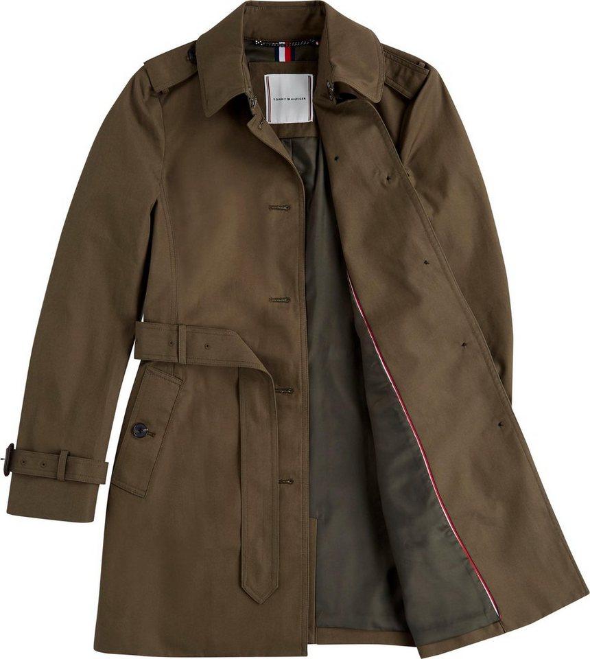 tommy hilfiger -  Trenchcoat »SINGLE BREASTED TRENCH« mit stylischem Kent-Kragen