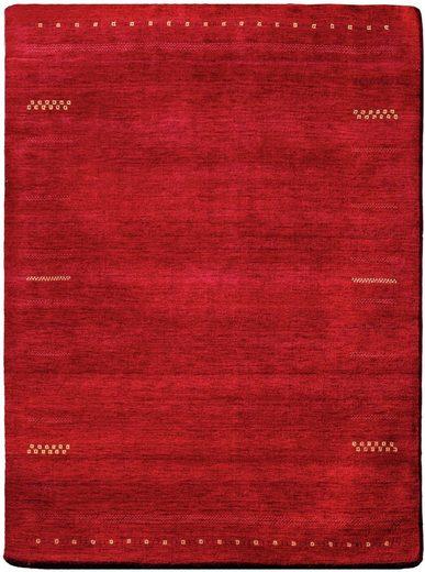 Wollteppich »Hiska«, Dekowe, rechteckig, Höhe 12 mm, Kurzflor, handgeknüpft
