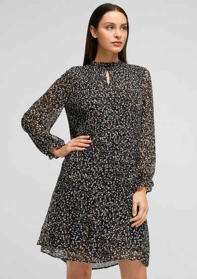 s.Oliver BLACK LABEL Minikleid »Bedrucktes Kleid mit Plissees« Cut Out