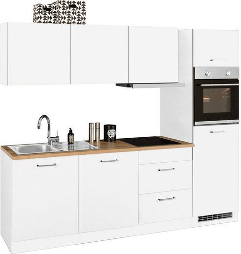 HELD MÖBEL Küchenzeile »Kehl«, mit E-Geräten, Breite 240 cm, wahlweise mit Induktionskochfeld