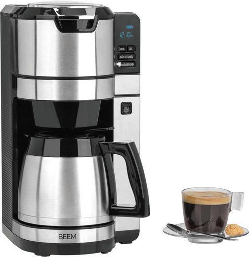 BEEM Kaffeemaschine mit Mahlwerk Fresh-Aroma-Pure - Thermo, 1,25l Kaffeekanne, Permanentfilter 1x4, mit Glaskanne