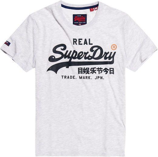 Superdry T-Shirt mit großem Logoprint