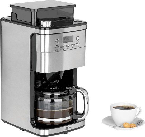 BEEM Kaffeemaschine mit Mahlwerk Fresh-Aroma-Perfect Superior, 1,25l Kaffeekanne, Permanentfilter 1x4, mit Glaskanne