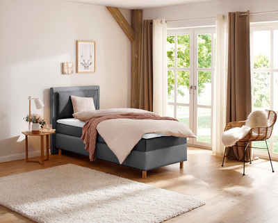 Home affaire Boxspringbett »RENO«, in 3 Breiten und bis zu Härtegrad 4, 2 Matratzenarten, incl. Topper