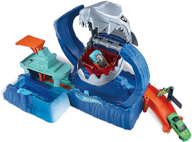 Image of Hot Wheels Autorennbahn »City Robo-Hai-Angriff«, inkl. 1 Spielzeugauto mit Farbwechsel