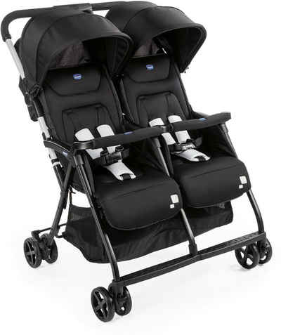 Chicco Zwillingsbuggy »OHlalà Twin, Black Night«, Zwillingskinderwagen; Kinderwagen für Zwillinge; Buggy für Zwillinge; Zwillingswagen