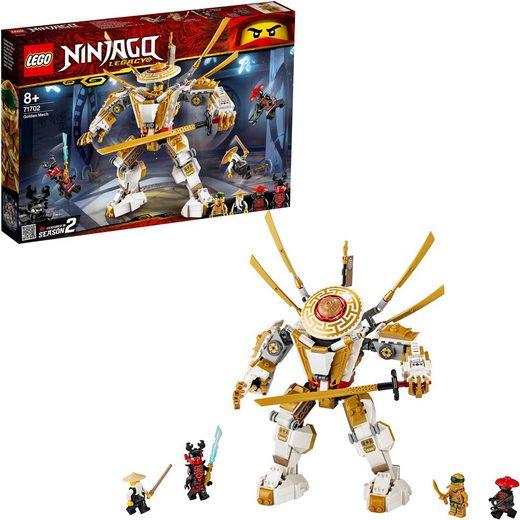 LEGO® Konstruktionsspielsteine »Goldener Mech (71702), LEGO® NINJAGO®«, (489 St)