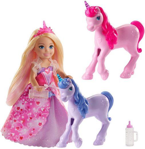Mattel® Anziehpuppe »Barbie Dreamtopia Chelsea Puppe und Einhörner«