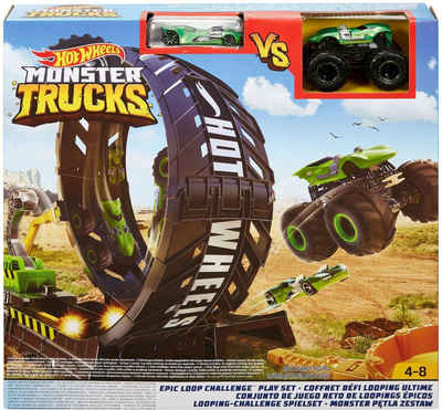 Hot Wheels Autorennbahn »Monster Trucks Looping-Challenge«, inkl. 2 Spielzeugautos