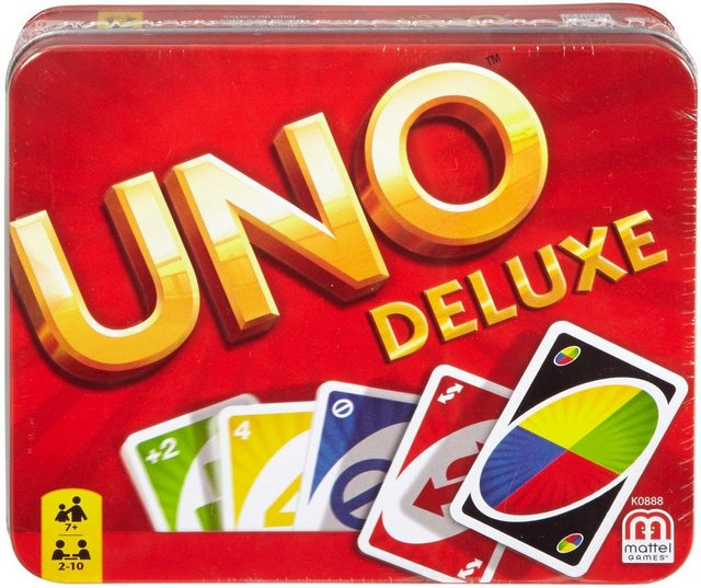 Image of Mattel games Spiel, »UNO Deluxe in Metalldose«
