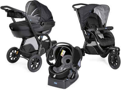 Chicco Kombi-Kinderwagen »Trio-System Activ3 Top, Jet Black«, mit Regenschutz, Kinderwagen