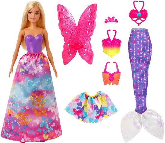 Mattel® Anziehpuppe »Barbie Dreamtopia 3-in-1-Fantasie«