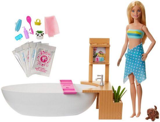 Mattel® Anziehpuppe »Barbie Wellnesstag«, mit Badewanne