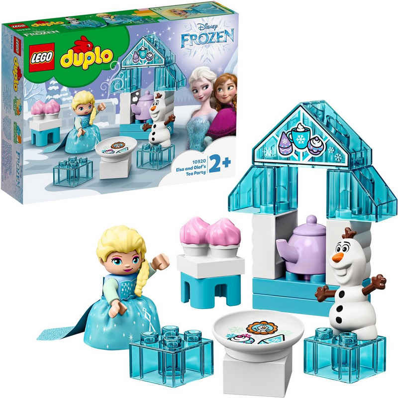 LEGO® Konstruktionsspielsteine »Elsas und Olafs Eis-Café (10920), LEGO® DUPLO® Disney Princess«, (17 St)