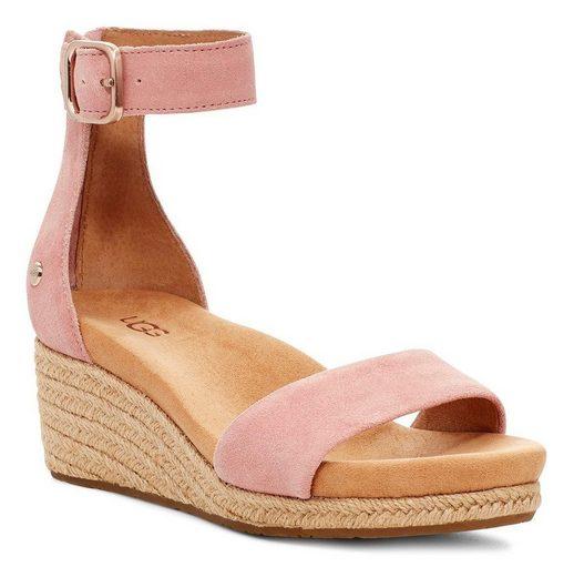 UGG »Zoe II« Sandalette mit Jute bezogener Absatz