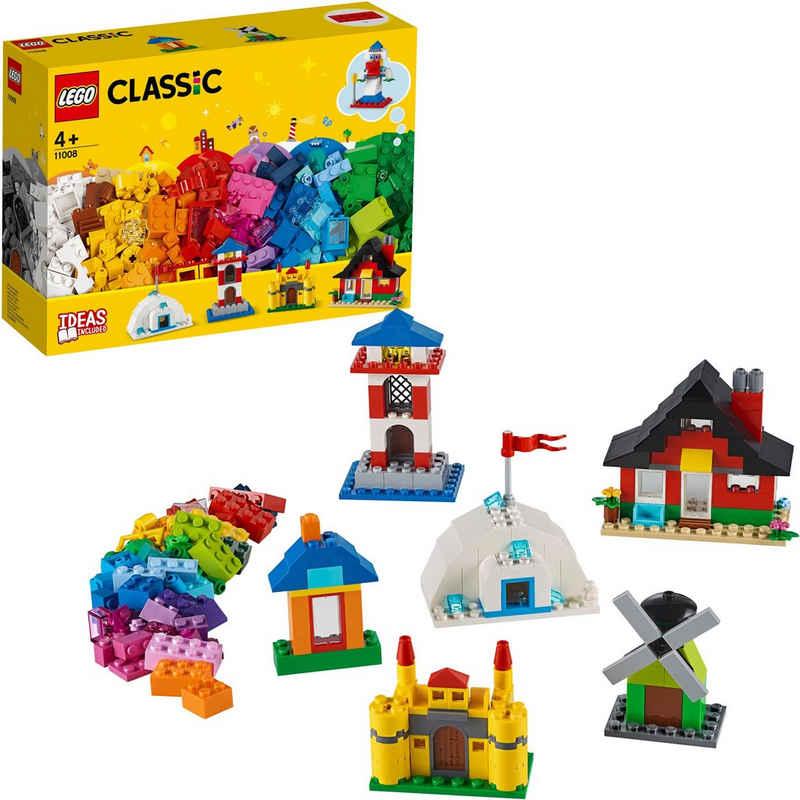 LEGO® Konstruktionsspielsteine »LEGO® Bausteine - bunte Häuser (11008), LEGO® Classic«, (270 St), Made in Europe