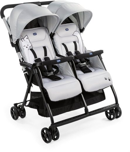 Chicco Zwillingsbuggy »OHlalà Twin, Silver Cat«