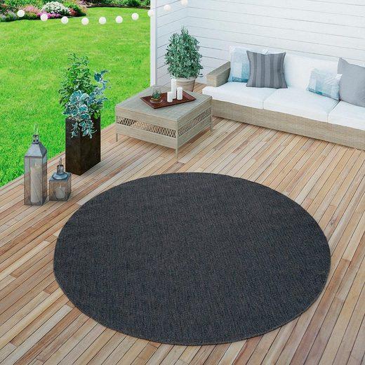 Teppich »Timber 125«, Paco Home, rund, Höhe 75 mm, In- und Outdoor geeignet