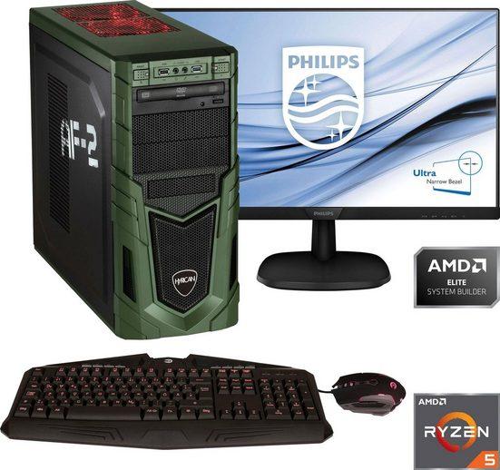 Hyrican »Military Gaming 6478 + Philips 273V7Q« PC-Komplettsystem (27 Zoll, AMD Ryzen 5, GTX 1660 SUPER, 16 GB RAM, 1000 GB HDD, 480 GB SSD)