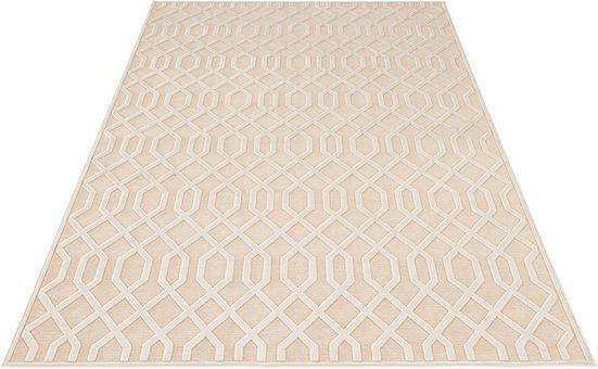 Teppich »Caine«, MINT RUGS, rechteckig, Höhe 4 mm, Viskose Glanz mit Hoch-Tief Struktur