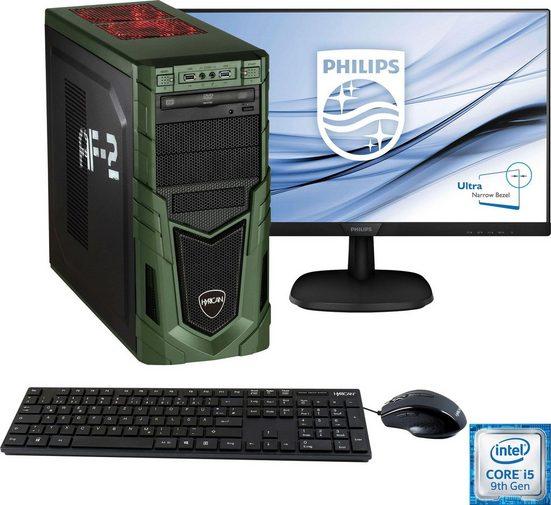 Hyrican »Military Gaming 6480 + Philips 273V7Q« PC-Komplettsystem (27 Zoll, Intel Core i5, GTX 1650 SUPER, 8 GB RAM, 1000 GB HDD, 240 GB SSD, inkl. Office-Anwendersoftware Microsoft 365 Single im Wert von 69 Euro)