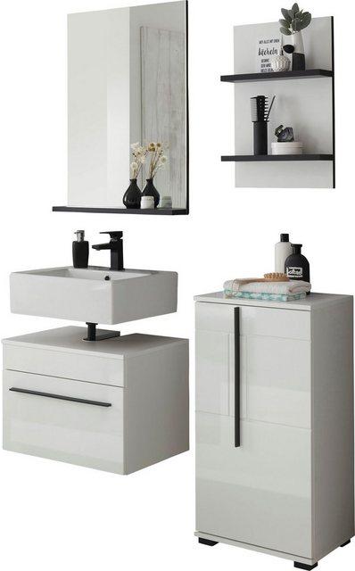 Badezimmer Sets - INOSIGN Badmöbel Set »Panarea«, (Set, 4 St), Fronten in Hochglanz  - Onlineshop OTTO
