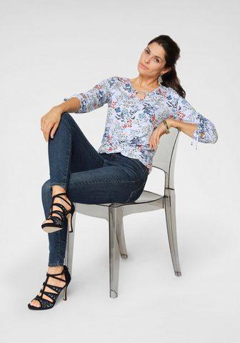 Блуза с круглым вырезом