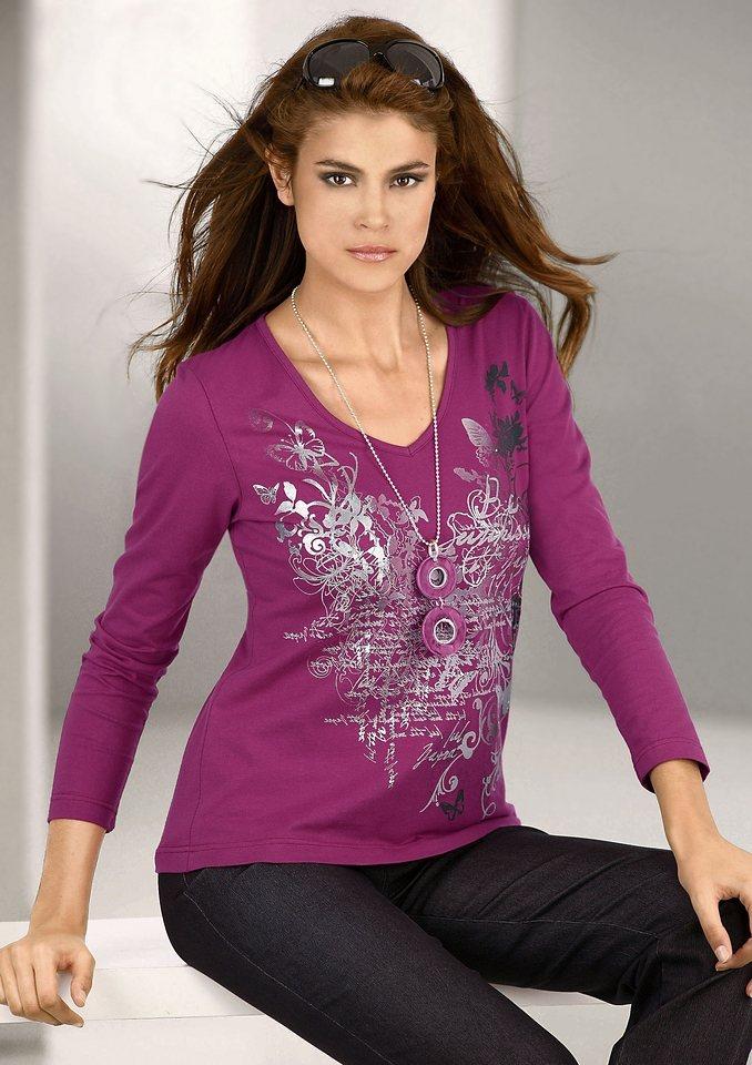 Ambria Shirt mit Druckmotiv in pink-bedruckt