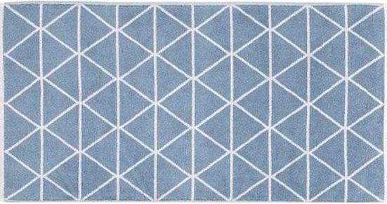 Badematte »Triangle« freundin Home Collection, Höhe 11 mm, fußbodenheizungsgeeignet, strapazierfähig, beidseitig nutzbar