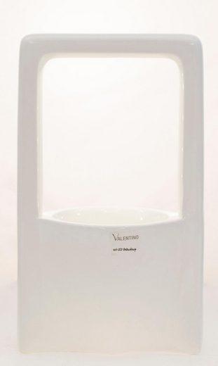 VALENTINO Wohnideen Pflanzschale »Malibu« (1 Stück), mit LED Beleuchtung, Höhe ca. 33 cm