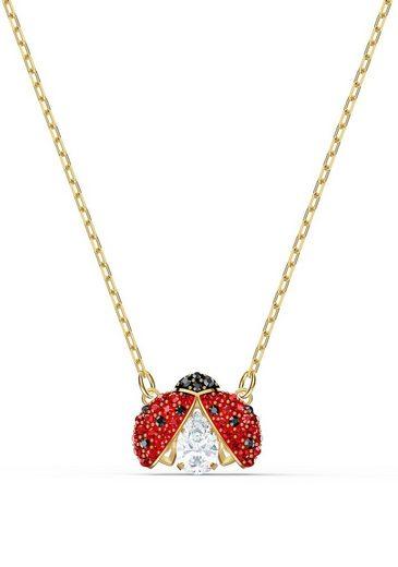 Swarovski Kette mit Anhänger »Marienkäfer, Sparkling Dance Ladybug, rot, vergoldet, 5521787«, mit Swarovski® Kristallen