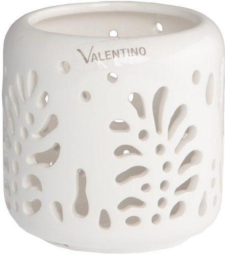 VALENTINO Wohnideen Kerzenhalter »Denali« (1 Stück), mit Blattstruktur