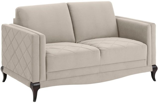 Sofas - DELAVITA 2 Sitzer, Federkern, hohe Holzfüße in edler Optik, Karosteppung  - Onlineshop OTTO