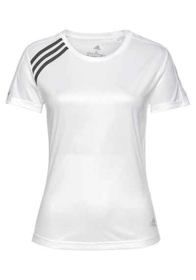 adidas Performance Laufshirt »RUN IT TEE 3 STRIPES«