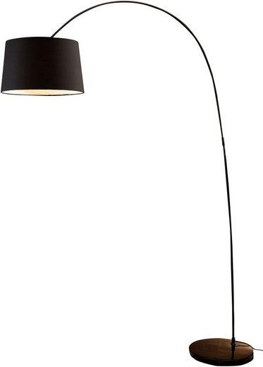 SalesFever Bogenlampe »Kaspars«, mit Dimmschalter, echter Marmorfuß